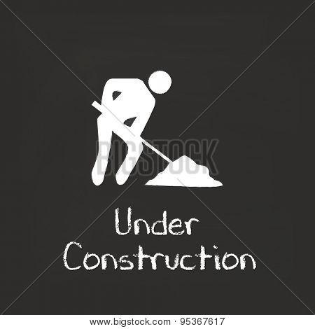 Under Construction Chalkboard Illustration