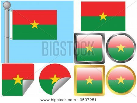 Flag Set Burkina Faso