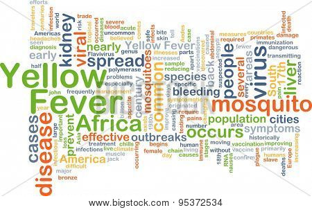 Background concept wordcloud illustration of yellow fever