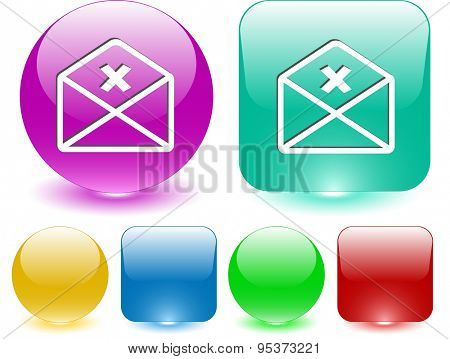 mail cancel. Vector interface element.