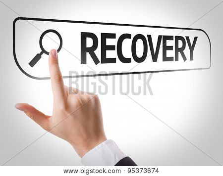 Recovery written in search bar on virtual screen