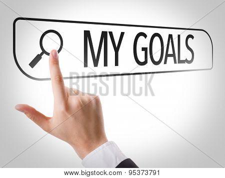 My Goals written in search bar on virtual screen