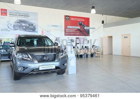 Serpuhov, Russia, June, 2015: Cars in a dealer's showroom in Serpuhov, Russia
