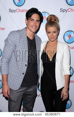 LOS ANGELES - JUN 30:  Tom Sandoval, Ariana Madix at the SpyChatter Launch Event at the The Argyle on June 30, 2015 in Los Angeles, CA