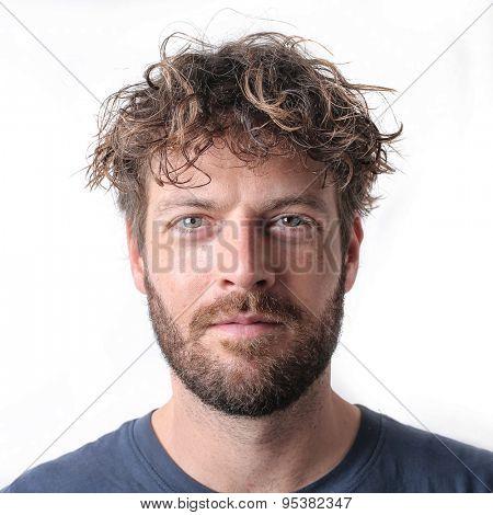 Serious man's portrait