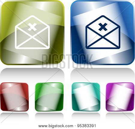 mail cancel. Internet buttons. Vector illustration.
