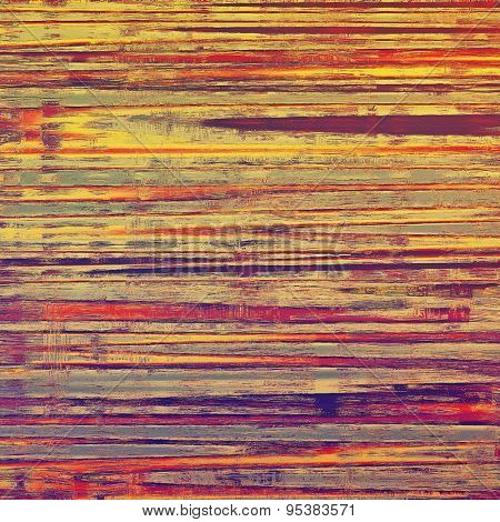 Cracks and stains on a vintage textured background. With different color patterns: yellow (beige); brown; red (orange); purple (violet)