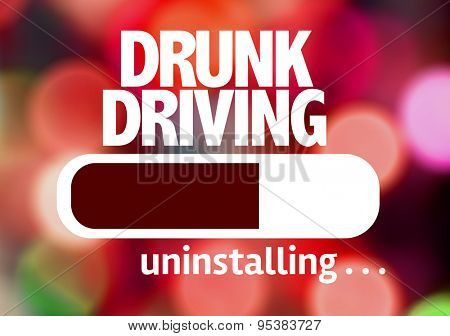 Progress Bar Uninstalling with the text: Drunk Driving