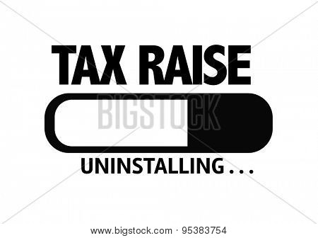 Progress Bar Uninstalling with the text: Tax Raise