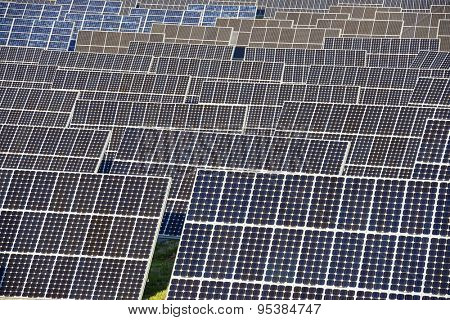 Photovoltaic panels for renewable electric production, Navarra, Aragon, Spain.