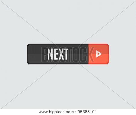 Next web button. Modern flat design website icon and design element
