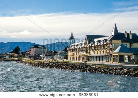 Puerto Natales On The Strait Of Magellan, Patagonia, Chile