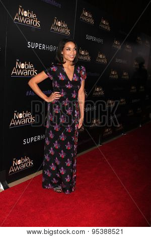 LOS ANGELES - FEB 27:  Rosario Dawson at the Noble Awards at the Beverly Hilton Hotel on February 27, 2015 in Beverly Hills, CA