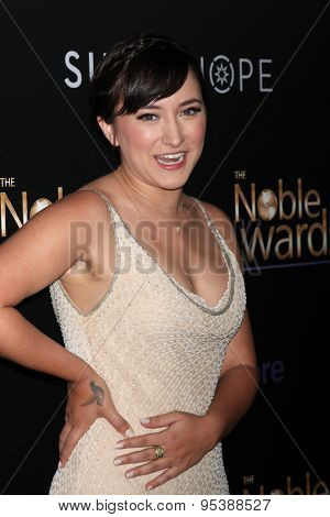 LOS ANGELES - FEB 27:  Zelda Williams at the Noble Awards at the Beverly Hilton Hotel on February 27, 2015 in Beverly Hills, CA