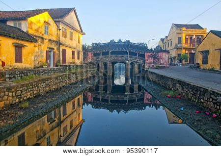 Japanese pagoda (or Bridge pagoda) in Hoi An ancient town