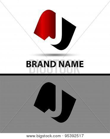 Logo j letter Vector illustration