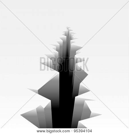 detailed illustration of a cracked ground, eps10 vector