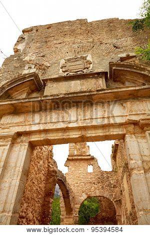 ruined monastery Jeronimo Nuestra senyora de la Murta in Alzira Valencia at Spain