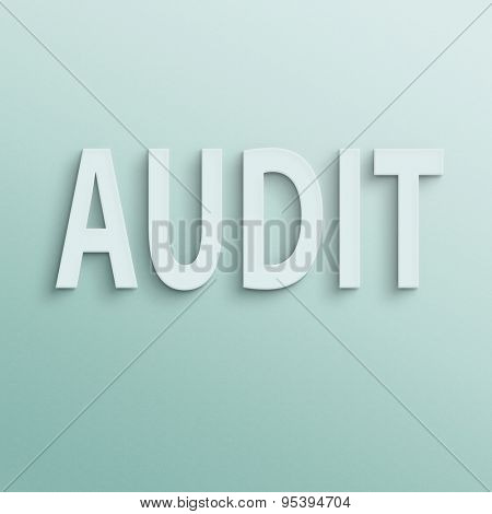 text on the wall or paper, audit