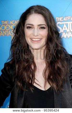 BURBANK - JUNE 25: Janet Montgomery arrives at the 41st Annual Saturn Awards on Thursday, June 25, 2015 at the Castaway Restaurant in Burbank, CA.