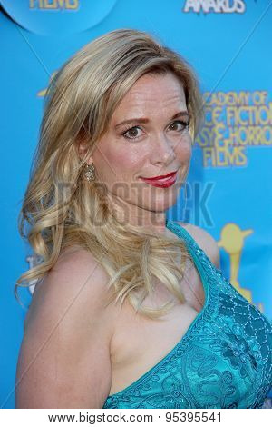 BURBANK - JUNE 25: Chase Masterson arrives at the 41st Annual Saturn Awards on Thursday, June 25, 2015 at the Castaway Restaurant in Burbank, CA.