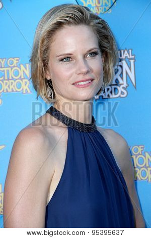 BURBANK - JUNE 25: Joelle Carter arrives at the 41st Annual Saturn Awards on Thursday, June 25, 2015 at the Castaway Restaurant in Burbank, CA.