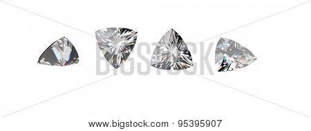 Diamond. Jewelry Background on white.