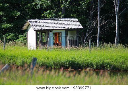 Abandoned shelter in Michigan rural area near Boyne falls