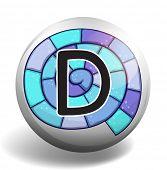 pic of letter d  - Letter D on spiral background - JPG