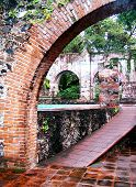 picture of hacienda  - Ancient walls of a Mexican Hacienda beautifully restored - JPG