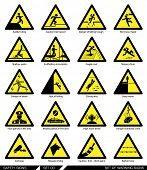 stock photo of signs  - Set of safety signs - JPG