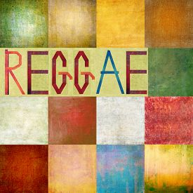 picture of reggae  - Textured background image depicting the word  - JPG