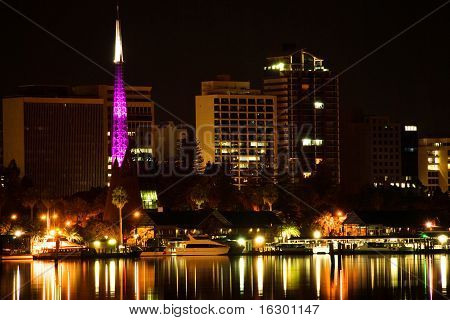 Perth  Western Australia by night