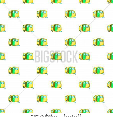 Yellow trailer pattern. Cartoon illustration of yellow trailer vector pattern for web