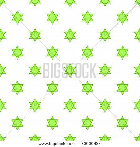 Star of David pattern. Cartoon illustration of Star of David vector pattern for web