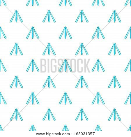 Folding knife pattern. Cartoon illustration of folding knife vector pattern for web