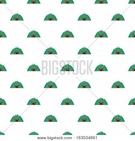 Mine in mountain pattern. Cartoon illustration of mine in mountain vector pattern for web