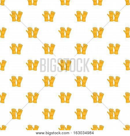 Rubber gloves pattern. Cartoon illustration of rubber gloves vector pattern for web