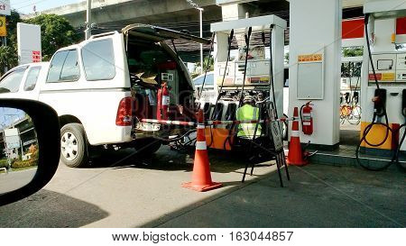 Repair And Maintenance Of The The Gas Station Dispensing.