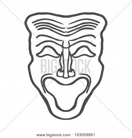 Theatrical masks isolated on white background Vector Illustration EPS10