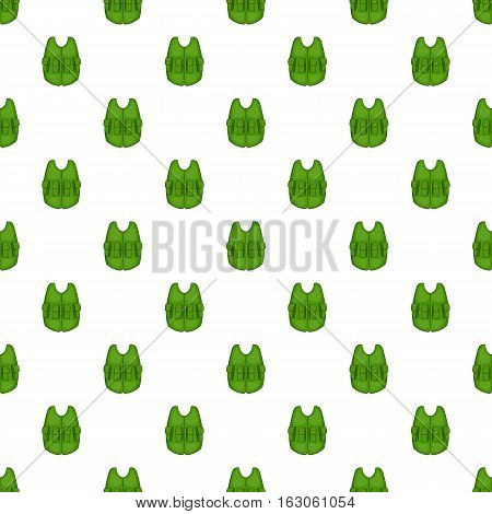 Hunting vest pattern. Cartoon illustration of hunting vest vector pattern for web