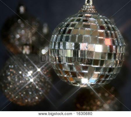 Espejos y Glitterballs Navidad año nuevo