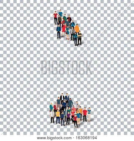 Isometric set of styles, people, map of Antigua and Barbuda, country, web infographics concept of crowded space, flat 3d. Crowd point group forming a predetermined shape. Creative people.  illustration. Photo .3D illustration. Transparent background . Iso