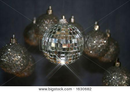Adornos espejos y Glitterballs Navidad nuevo años