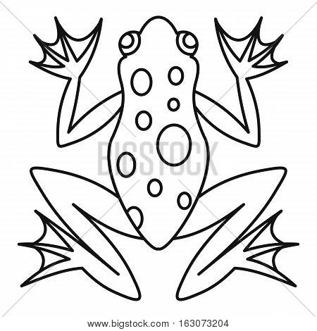 Frog icon. Outline illustration of frog vector icon for web