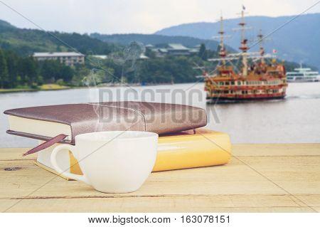 Coffee And Boat In Lake Ashi