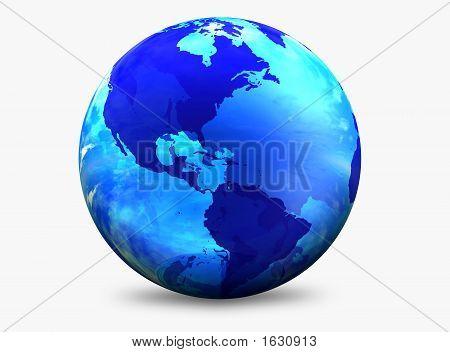 Globo del mundo Color Aqua