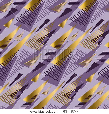 Christmas seamless triangle modern pattern. violet color background geometry arrow seamless geometry modern fabric sample. geometric pattern swatch vector illustration