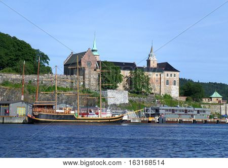 Akershus Fortress, Medieval Monument on the Shore of Oslo Harbor, Norway
