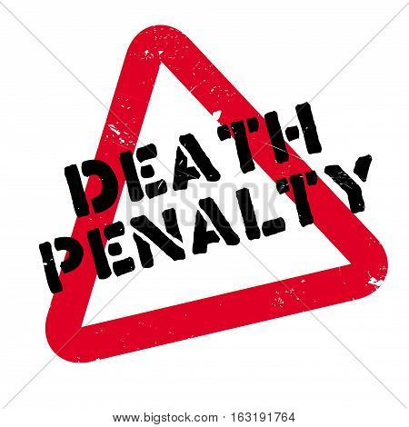 Death Penalty rubber stamp. Grunge design with dust scratches. Effects can be easily removed for a clean, crisp look. Color is easily changed.